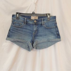 Hollister Womens  cuffed Denim Jean Jeans Short 11